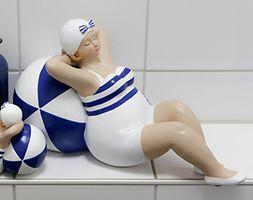 "Casablanca Figur ""Franzi"", 36 cm, blau-weiß"