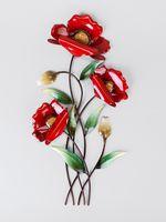Formano Wandbild Mohnblume, 46 cm, rot
