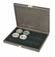 Real wood cassette CARUS XM with 12 square compartments for coins/coin capsules up to Ø 52 mm – Bild 5
