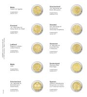 Illustrated page karat for 2 Euro commemorative coin: Malta October 2016 up to Spain February 2017