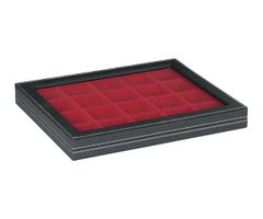 Case NERA M with window and light red insert with 20 square compartments  – Bild 1