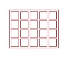 Echtholz-Sammelkassetten CARUS-1 mit hellroter Einlage mit 20 quadratischen Fächern – Bild 2