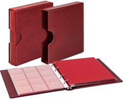 Set karat-Coin-album CLASSIC with protective case with cut outs, wine red – Bild 1