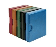 Set karat-Coin-album CLASSIC with protective case with cut outs, blue – Bild 6