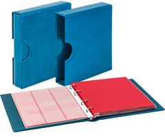 Set karat-Coin-album CLASSIC with protective case with cut outs, blue – Bild 1