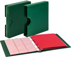 Set karat-Coin-album CLASSIC with protective case with cut outs, green – Bild 1