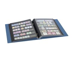 Stamp album mit screw-mechanism, blue – Bild 3