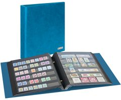 Stamp album mit screw-mechanism, blue – Bild 1