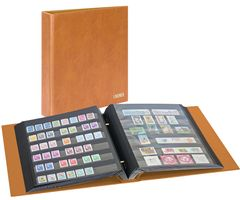 Stamp album mit screw-mechanism, tan – Bild 1