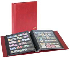Stamp album mit screw-mechanism, red – Bild 1
