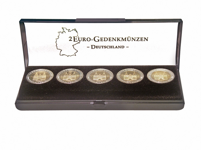 German Silver Plated Commemorative Coins Collectible Coins Euros Coins FB