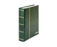 "Stockbook ""LUXUS"" green, with 60 white pages and matching slipcase – Bild 3"