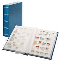 "Stockbook ""LUXUS"" blue, with 60 white pages and matching slipcase – Bild 1"