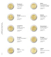 Printed page for 2 Euro commemorative coin: France 2017 up to Lituanie 2017