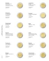 """Multi collect"" Illustrated page for 2 EURO-Commemorative coins: Slovakia 2017 - Greece 2017"