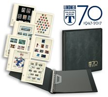 "Anniversary ring binder ""70 years LINDNER Falzlos-Album"" incl. 20 pages T-Blanko of your choice  – Bild 1"