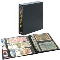 Banknote album PUBLICA M with 20 double-sided foil sheets in two different layouts - with matching slipcase  – Bild 1