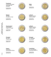 Printed page for 2 Euro commemorative coin: France 2017 up to Luxemburg 2017