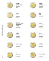 """Multi collect"" Illustrated page for 2 EURO-Commemorative coins: Portugal 2017 - Luxembourg 2017"