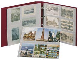 Ringbinder STANDARD XL II Wahl inkl. 20 Postkartenhüllen - weinrot – Bild 1