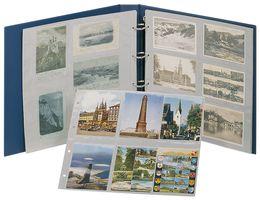 Album XL cartes postales, bleu,  avec 20 feuilles de classement au choix - ÉDITION SPÉCIALE – Bild 1