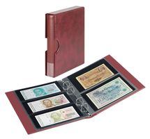 Banknote album RONDO with 10 banknote pages, incl. slip case, winered – Bild 1
