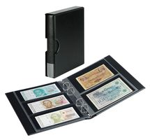 Banknote album RONDO with 10 banknote pages, incl. slip case, black – Bild 1