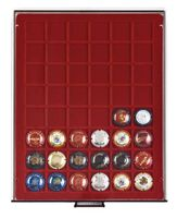 Champagne lid box (drawer smoked glass, wine red velour insert) – Bild 1