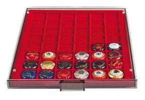 Box pour  capsules de champagne – fumé / plateau rouge foncé – Bild 2