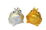 """SABO Spardose """"Frosch"""" Silber-Edition, 16,5x15x15 cm 002"""