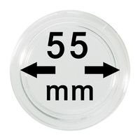 Coin capsules internal Ø 55 mm inside height 3,2 mm, per piece