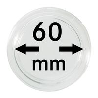 Coin capsules internal Ø 60 mm inside height 5,3 mm, per piece