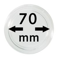 Coin capsules internal Ø 70 mm inside height 5,5 mm, per piece