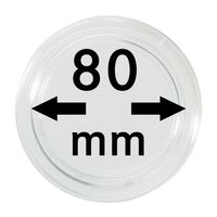 Coin capsules internal Ø 80 mm inside height 5,7 mm, per piece