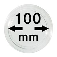 Coin capsules internal Ø 100 mm inside height 8,5 mm, per piece