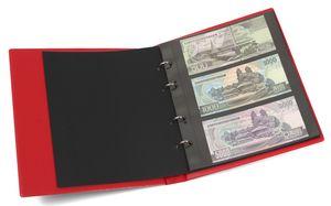 KOBRA-Banknotenalbum im Format der Doppel-FDC-Alben mit 10 Blättern, rot – Bild 1