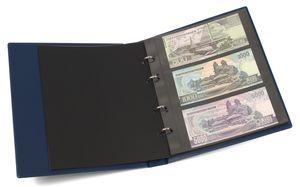 KOBRA-Banknotenalbum im Format der Doppel-FDC-Alben mit 10 Blättern, blau – Bild 1