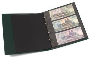 KOBRA-Banknotenalbum im Format der Doppel-FDC-Alben mit 10 Blättern, grün – Bild 1