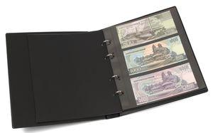KOBRA-Banknotenalbum im Format der Doppel-FDC-Alben mit 10 Blättern, schwarz – Bild 1