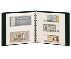 Banknote Album with 10 crystal clear pages in 2 different layouts and white interleaving pages – Bild 2