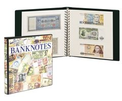 Banknote Album with 10 crystal clear pages in 2 different layouts and white interleaving pages – Bild 1