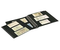 Banknote Album with 10 crystal clear pages in 2 different layouts and black interleaving pages – Bild 2
