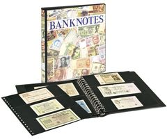 Banknote Album with 10 crystal clear pages in 2 different layouts and black interleaving pages – Bild 1