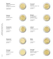 Printed page for 2 Euro commemorative coin: Spain 2018 up to Portugal 2018