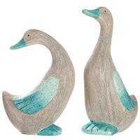 "Gilde Deko-Ente ""Petroli"" aus Keramik,  Höhe: 37 cm, Breite: 14 cm, Tiefe: 21 cm, Grau-Petrol, Sortiert, 1 Stück"