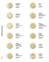 """Multi collect"" Illustrated page for 2 EURO-Commemorative coins: France 2018 - Finland 2018"