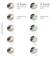 Illustrated page karat for 5 Euro coins : Germany 2018 - 2019