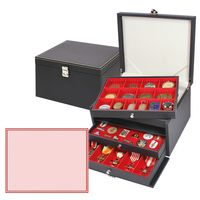 NERA Münzkabinett mit 3 Schubladen und mit roten Schaumstoffeinlagen für PINs / Orden / Abzeichen – Bild 1