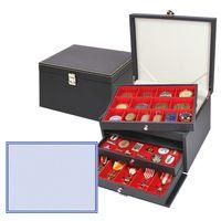 NERA Münzkabinett mit 3 Schubladen und mit schwarzer Schaumstoffeinlagen für PINs / Orden / Abzeichen – Bild 1