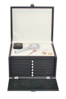 Coin cabinet NERA with 3 drawers with a black foam insert for pins, medals, emblems etc. – Bild 3